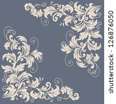 vector floral design elements... | Shutterstock .eps vector #126876050