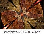 symmetric multicolor fractal...   Shutterstock . vector #1268776696