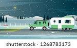 caravan family travels during...   Shutterstock .eps vector #1268783173