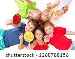 close up of happy children with ... | Shutterstock . vector #1268788156