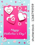 valentine s day greeting card.... | Shutterstock . vector #1268795959