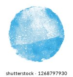 watercolor circle on white as... | Shutterstock . vector #1268797930