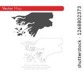 vector map guinea bissau.... | Shutterstock .eps vector #1268802373
