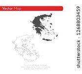 vector map greece. isolated... | Shutterstock .eps vector #1268803459