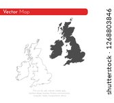 vector map great britain.... | Shutterstock .eps vector #1268803846