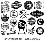 retro grill badges and labels... | Shutterstock .eps vector #126880439
