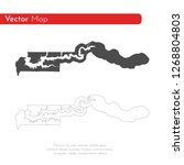 vector map gambia. isolated... | Shutterstock .eps vector #1268804803