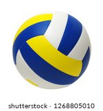 volleyball ball isolated on... | Shutterstock . vector #1268805010