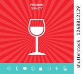 wineglass symbol icon. graphic... | Shutterstock .eps vector #1268812129