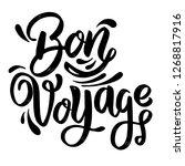 bon voyage. lettering phrase on ...   Shutterstock .eps vector #1268817916