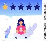 girl give negative feedback.... | Shutterstock .eps vector #1268821600