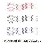 postage stamp set  live stroke... | Shutterstock .eps vector #1268821870
