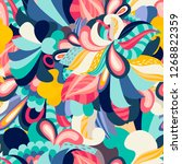 bright floral seamless pattern | Shutterstock .eps vector #1268822359