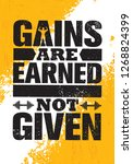 gains are earned. not given. ... | Shutterstock .eps vector #1268824399