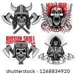 set gothic sign with skull ... | Shutterstock .eps vector #1268834920