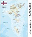 road map of the faroe islands...   Shutterstock .eps vector #1268834989