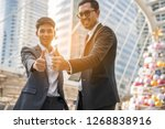 business person  thumbs up | Shutterstock . vector #1268838916