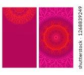 modern vector template with... | Shutterstock .eps vector #1268839249