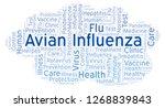 avian influenza word cloud ... | Shutterstock . vector #1268839843