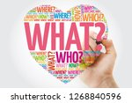 what  question heart with... | Shutterstock . vector #1268840596
