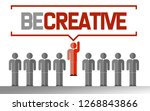 be creative business unique... | Shutterstock . vector #1268843866