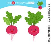 find differences.  educational... | Shutterstock .eps vector #1268853793