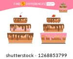 find differences.  educational... | Shutterstock .eps vector #1268853799