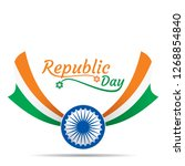 happy republic day of india... | Shutterstock .eps vector #1268854840