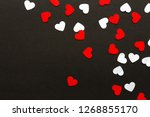 Valentines Day. Paper Hearts...
