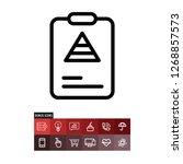 report vector icon | Shutterstock .eps vector #1268857573