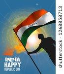 republic day celebration  26... | Shutterstock .eps vector #1268858713