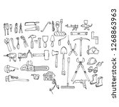 vector manual and power hand... | Shutterstock .eps vector #1268863963