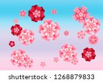 oriental apricot or japanese...   Shutterstock .eps vector #1268879833
