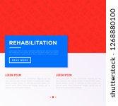 rehabilitation for disabled...   Shutterstock .eps vector #1268880100