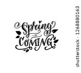 black and white spring is... | Shutterstock .eps vector #1268880163