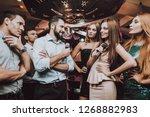 battle. cheerful. singing songs.... | Shutterstock . vector #1268882983