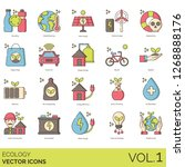 ecology icons including... | Shutterstock .eps vector #1268888176