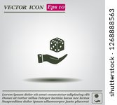 cubes for the game vector icon. | Shutterstock .eps vector #1268888563