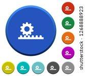 cogwheel with rack pinion round ... | Shutterstock .eps vector #1268888923