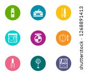 outward appearance icons set.... | Shutterstock . vector #1268891413