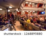 people in the theater... | Shutterstock . vector #1268895880