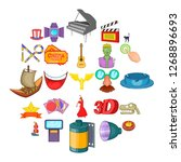 picture show icons set. cartoon ... | Shutterstock . vector #1268896693