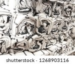 rolled fabric textured cloth... | Shutterstock . vector #1268903116