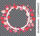 love frame. white frame on... | Shutterstock .eps vector #1268906623