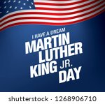 martin luther king day banner... | Shutterstock .eps vector #1268906710