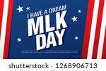 martin luther king day banner... | Shutterstock .eps vector #1268906713