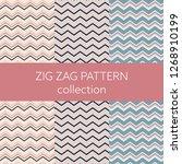set of chevron pattern vector... | Shutterstock .eps vector #1268910199