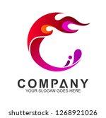 red fire letter c logo design | Shutterstock .eps vector #1268921026
