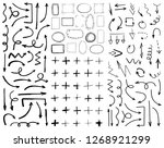 collection of black hand drawn... | Shutterstock .eps vector #1268921299