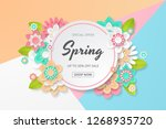 spring sale background with... | Shutterstock .eps vector #1268935720